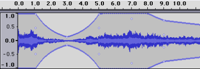how to change volume for sound file on audacity